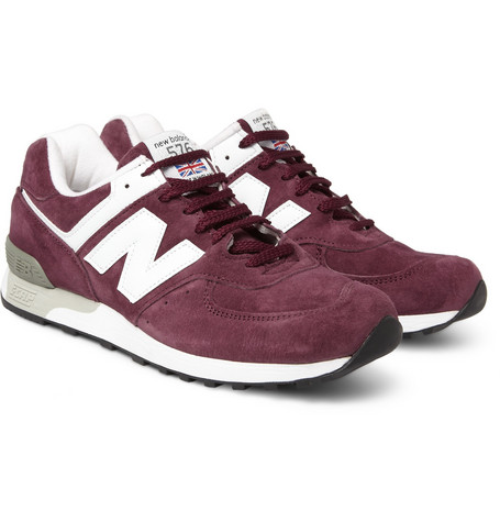 New Balance576 Suede and Leather Sneakers