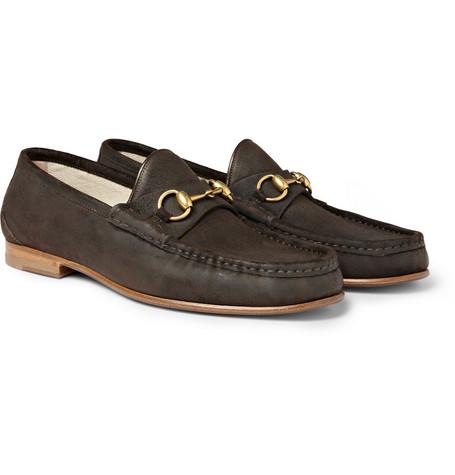 GucciHorsebit Suede Loafers