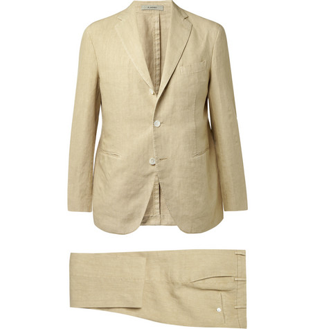 Boglioli Three-Piece Linen Suit