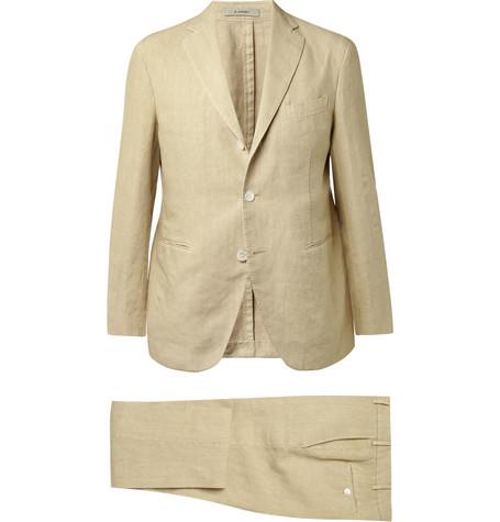 BoglioliThree-Piece Linen Suit