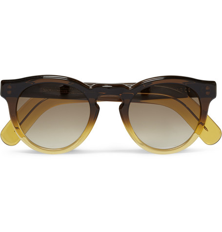 Cutler and Gross Round-Frame Ombre Acetate Sunglasses