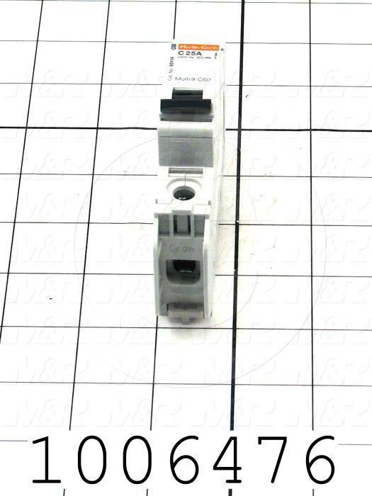 1006476 :: Circuit Breaker, 1 Pole, 25A, 240VAC, C Curve