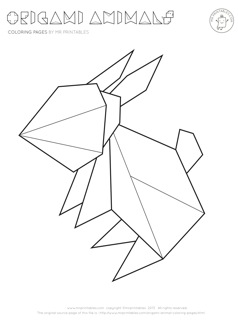 Origami Pages Coloring Pages