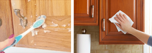 Tips for cleaning kitchen cabinet
