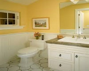 The soothing paint colours for the bathroom