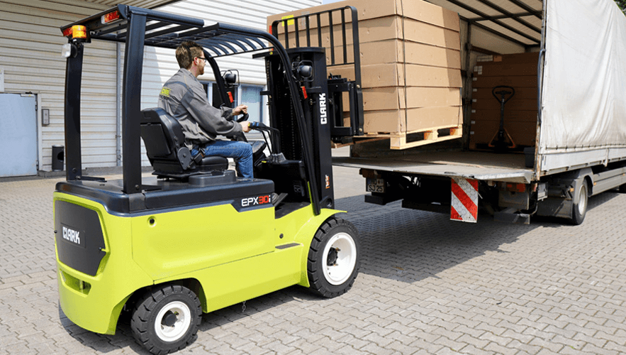 Reducing Emissions of 20,000 Pounds of Carbon Dioxide with Electric Forklifts