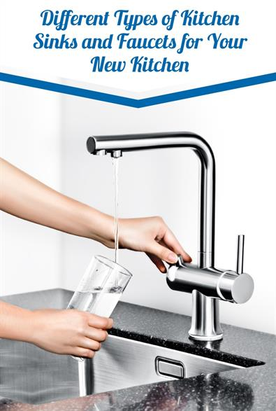 different types of kitchen sinks and
