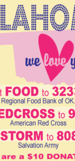 Ways to show love and support for those in Oklahoma.