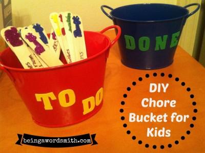 #DIY chore bucket for kids