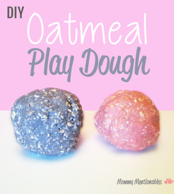 Oatmeal #playdough #recipe #edible #kids #artsandcrafts via @mommymentions