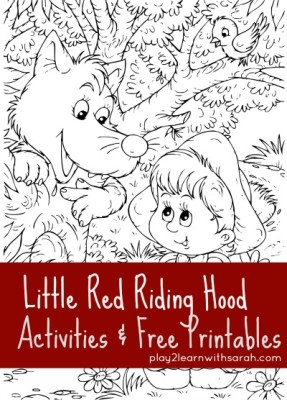 Little-Red-Riding-Hood-#activities #free #printables via @play2learnsarah #homeschool #homeschoollinkup