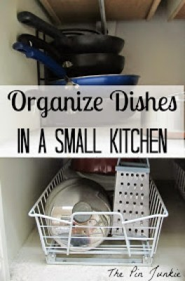 Organize dishes in a small kitchen