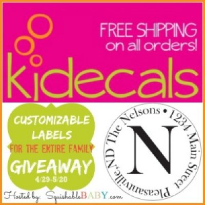Kidecals custom label #giveaway
