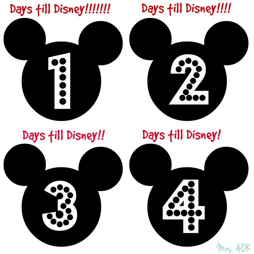 Printable Countdown To Disney printable