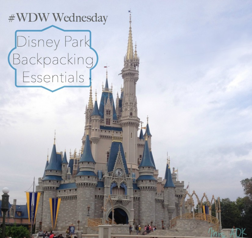 #WDW Wednesday Disney Park Backpacking essentials #Disney #MustHaves