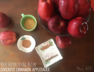 Crockpot Cinnamon Applesauce