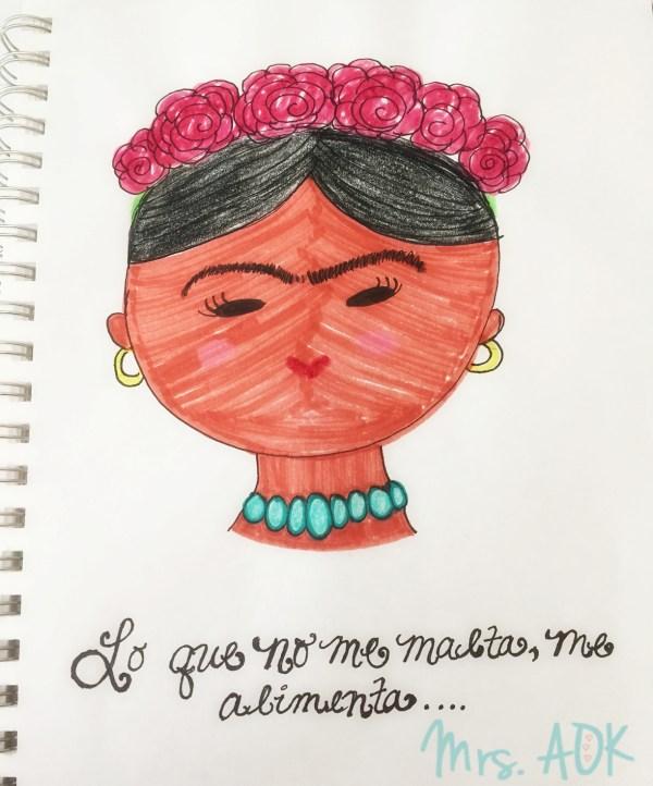 Art Journaling:Frida| Mrs. AOK, A Work In Progress