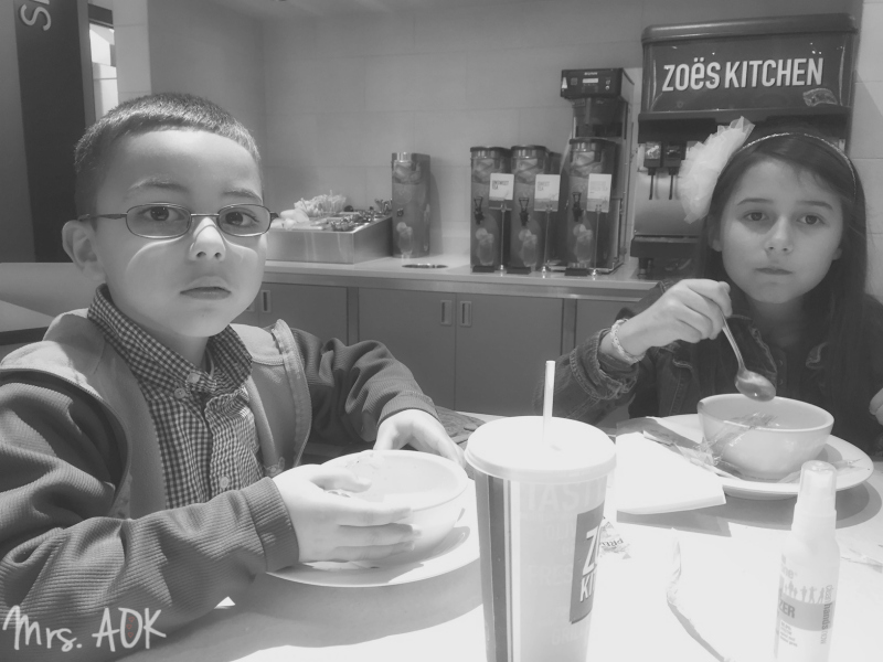 My littles at lunch|Mrs. AOK, A Work In Progress