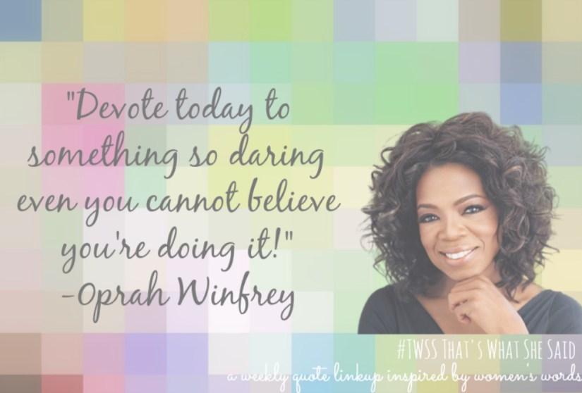 #TWSS Oprah Winfrey