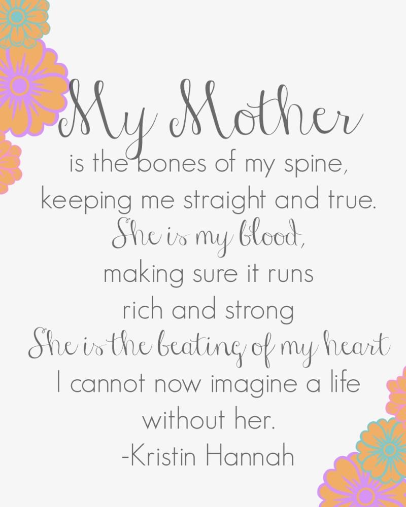 My Mother Kristin Hannah