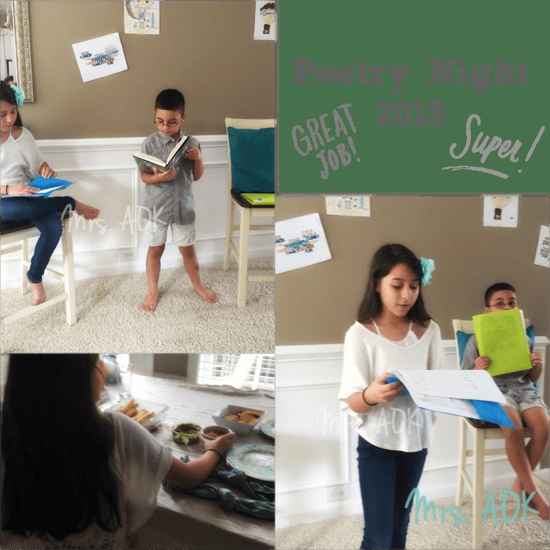 Poetry Night|Mrs. AOK, A Work In Progress {homeschool}