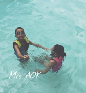 My babies in the pool