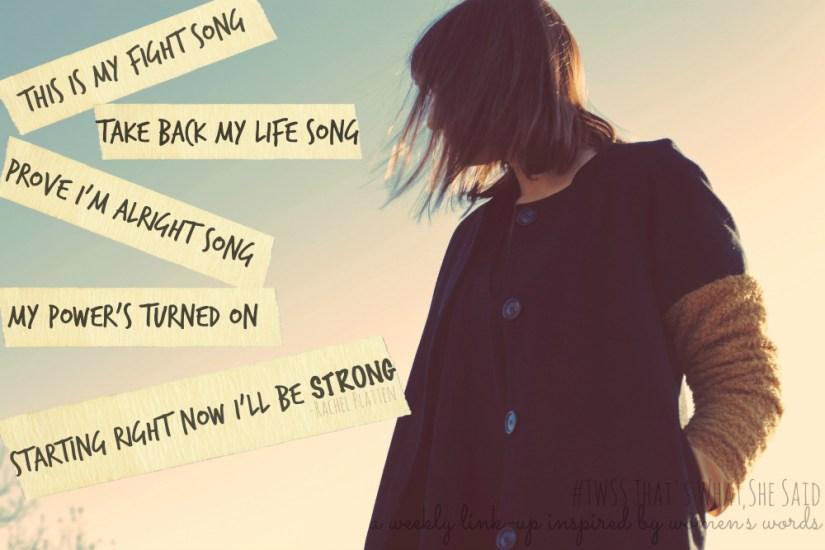 Fight Song Rachel Platten TWSS