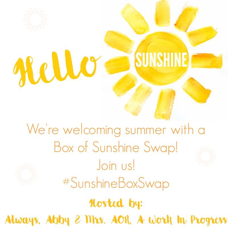 Sunshine Box Swap| Box Swap| Happy Mail| Blogger Box Swap| Mrs. AOK, A Work In Progress