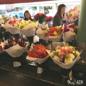 Pike Place Flower Market  Seattle  Thank You Notes Mrs. AOK, A Work In Progress