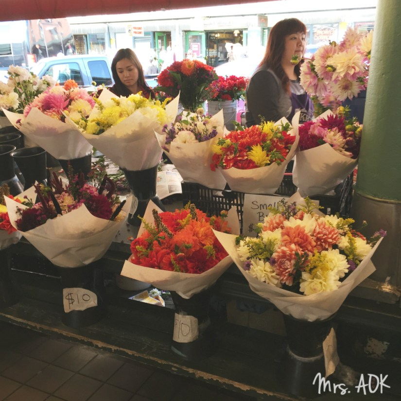 Pike Place Flower Market| Seattle| Thank You Notes|Mrs. AOK, A Work In Progress