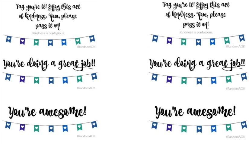 Random Acts of Kindness Printable| Mrs. AOK, A Work In Progress