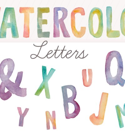 Gift Guide For Bloggers| Watercolor Fonts via Angie Makes