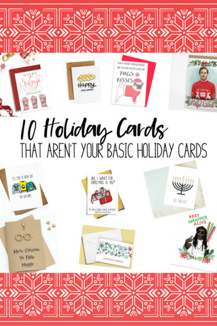 It's Day 4 of 12 Days of Blogmas!! Today I'm sharing 10 Holiday Cards that aren't your basic holiday cards. I love Etsy!!