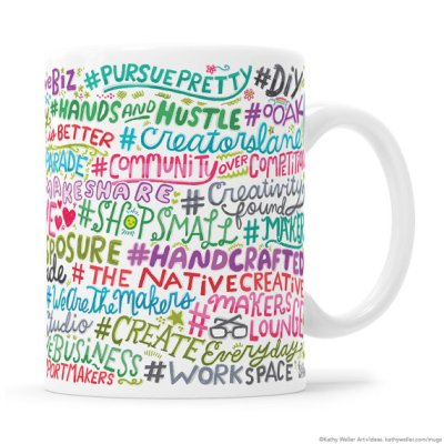 Gift Guide for Creative Ladies: Hashtag mug