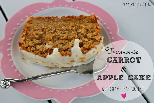 thermomix carrot and apple cake 1