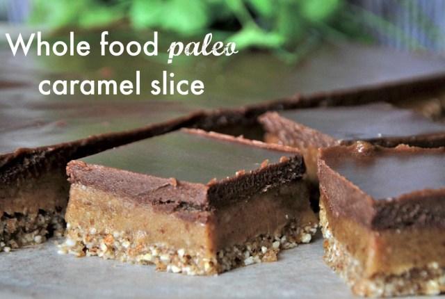 paleo caramel slice