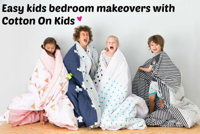 Easy kids bedroom makeovers with Cotton On Kids