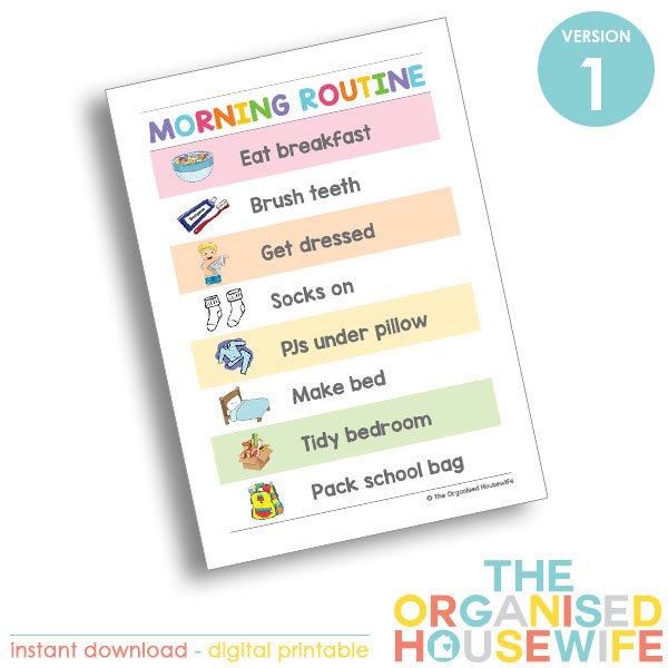 The-Organised-Housewife-Morning-Routine-Chart-The-Organised-Housewife-Morning-Routine-Chart-Rainbow-Version-1Rainbow-Version-1