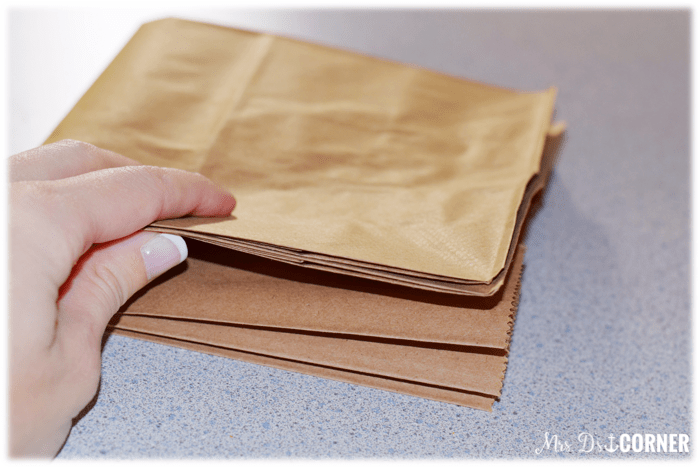Black History Month Craftivity. Fold the paper bags in half.