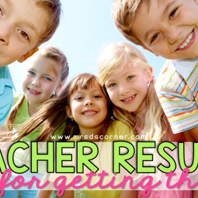 teacher resume tips blog post header