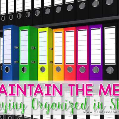 Staying Organized in SPED { Tips for the Teacher }