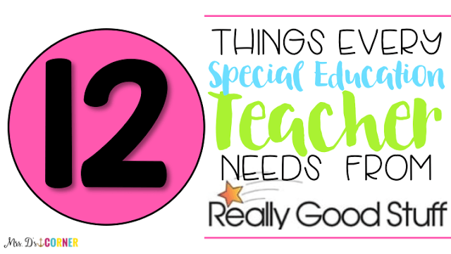 12 Things Every SPED Teacher Needs from ReallyGoodStuff