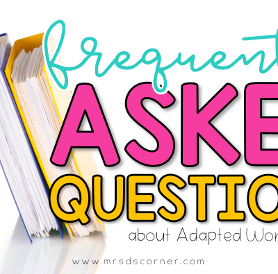 Adapted Work Binder Q&A