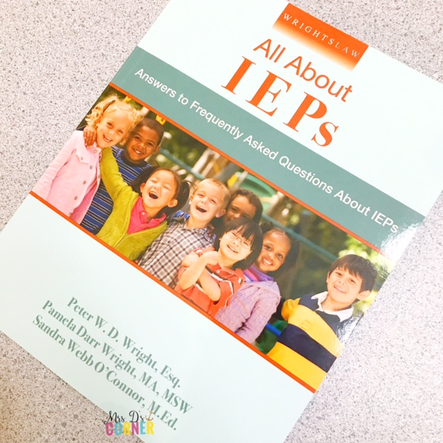 All about IEPS book Special Education Classroom Tools