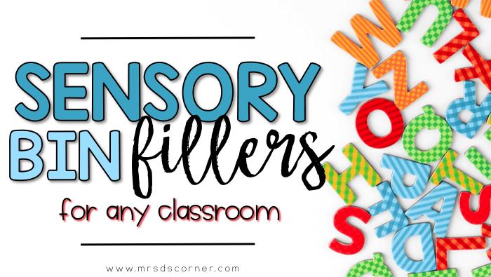 sensory bin fillers header