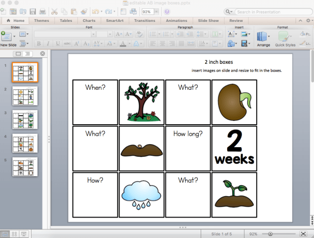 Choose the clip art or images you want to represent the pages of the children's book. Use the free template linked below.