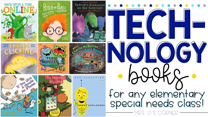 30 Technology books for kids of any age. Teach students about technology responsibility, online bullying, staying safe online, and so much more with these children's books about technology. Blog post at Mrs. D's Corner.