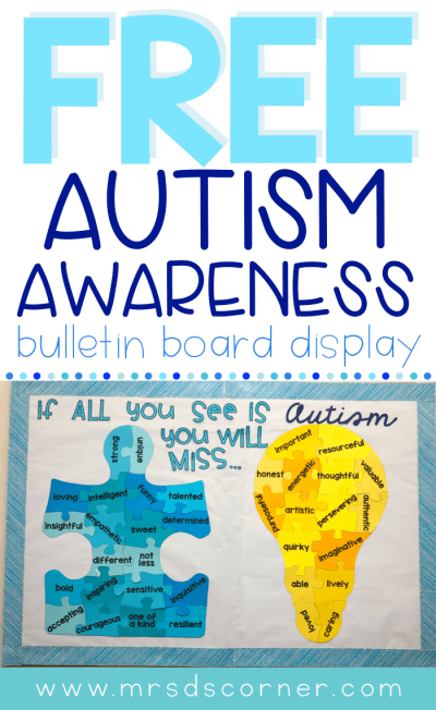 "April is Autism Awareness month, but it's so much more than awareness... it's about acceptance and seeing people for who they are. This bulletin board display will help students, staff, and everyone who walks the halls of your school think about each child first and not the ""label"" of Autism. Caity and I feel very strongly that the message behind this bulletin board is so important, not just for students with Autism, but for all students with disabilities. Display this bulletin board all year long!"