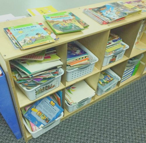 how to store books in a classroom library