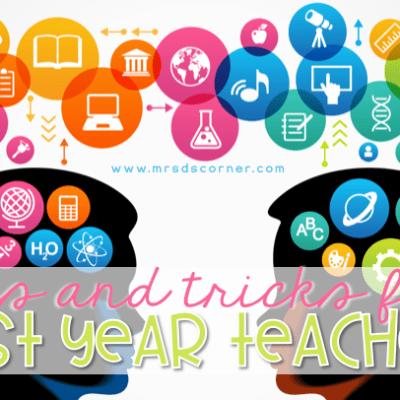First year teacher tips and tricks header